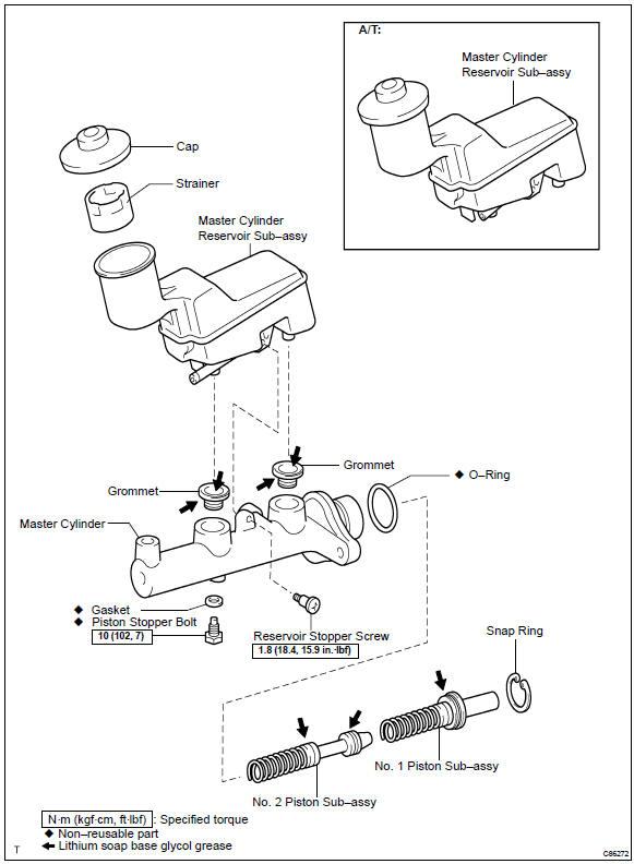 Toyota Master Cylinder Diagram