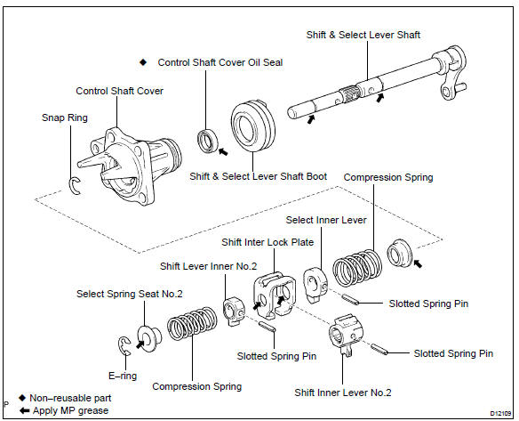 Toyota    Corolla    Repair    Manual     Components  Shift   select lever shaft assy  c59   Automatic
