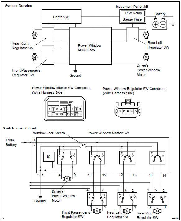 Toyota Power Window Switch Wiring Diagram from www.tcorolla.net